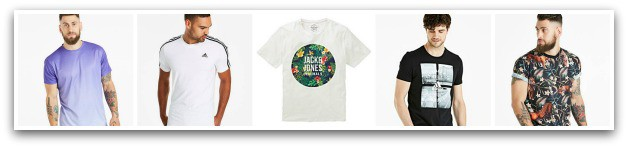 Jacamo have a great range of t-shirts for men