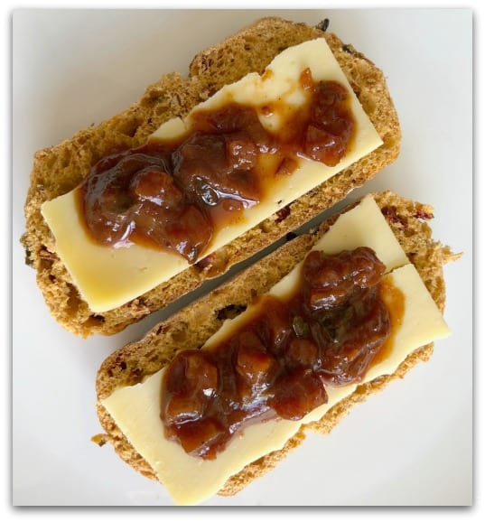 Creating Tastier Picnics with Tracklements - Grown up cheese and pickle sandwiches with Tracklements Perfect Ploughman's Pickle