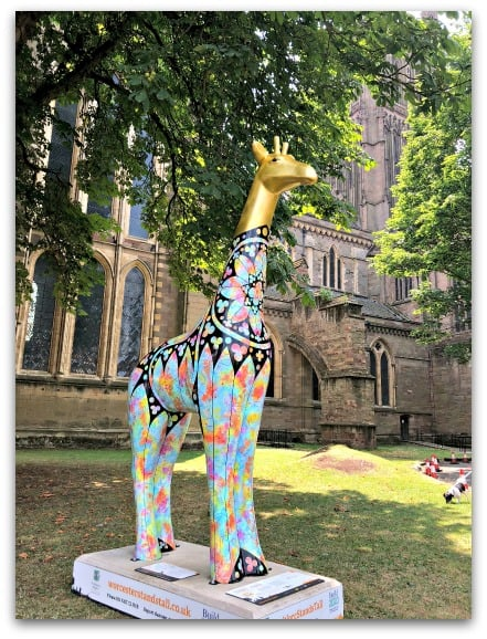 Every one of the Worcester Stands Tall giraffe sculptures is beautifully designed