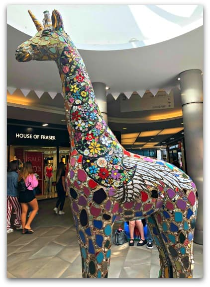 The impressive Unicorn Giraffe from Worcester Stands Tall