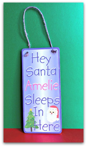 Hey Santa! Door Sign