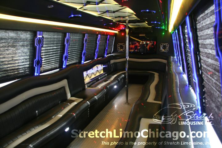 Chicago limousine bus services  24to28 passenger