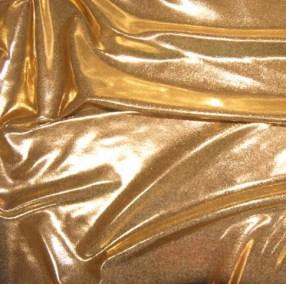 Gold Shine Foil Effect Lycra