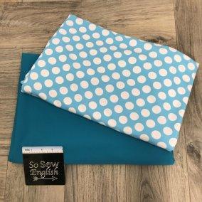 Aqua Dots/Turquoise 'Swim' fabric