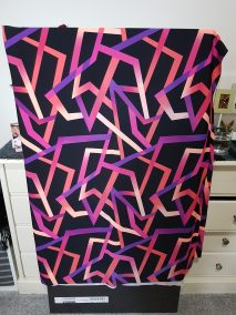 Bright Geometric - Medium weight printed lycra. Good for leggings
