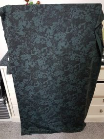 Dark Floral - Printed supplex-type fabric. Soft to the touch. Medium weight - suitable for leggings, skorts or tops.