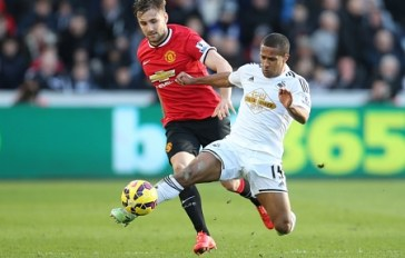 Swansea City v Manchester United, Barclays Premier League, Britain - 21 Feb 2015