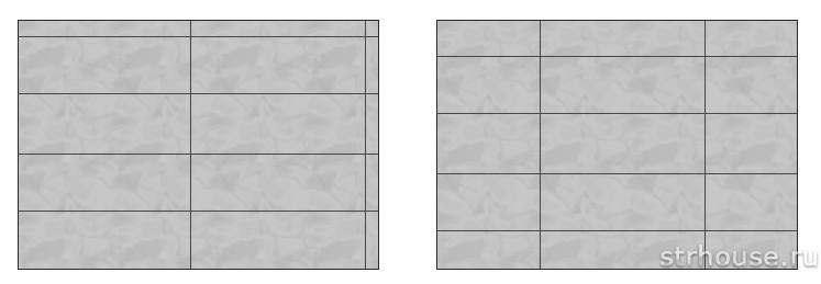 Қабырғаға плиткалар төсеу схемалары