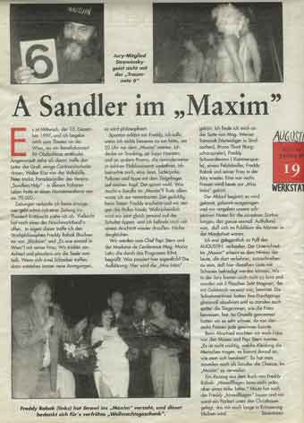 """Miss-Wahl im !MAXIM"""""""