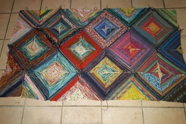 Decke aus Wollresten