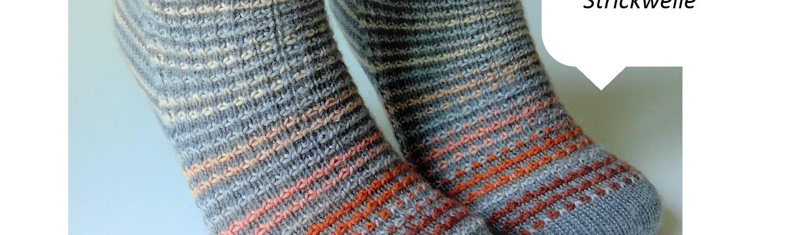 kleine-Strickwelle Strickabenteuer Socken handegestrickt