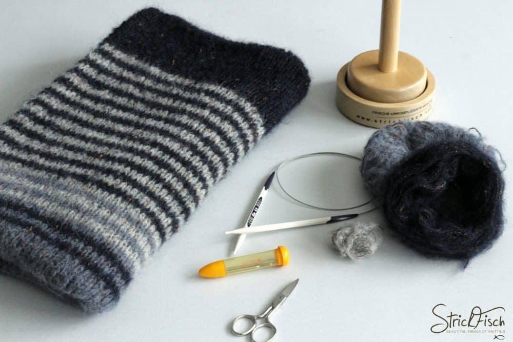 StrickFisch KAL / Halbzeit Tweed-Schal