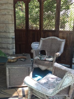 One of our conversation area on porch