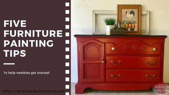 Five Furniture Painting Tips for Newbies