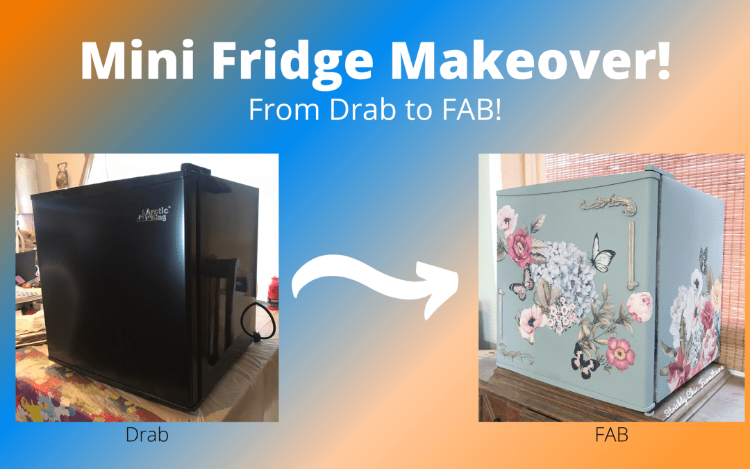 Mini Fridge Makeover – From Drab to Fab!