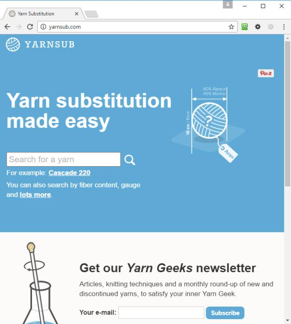 Garn ersetzen mit yarnsub