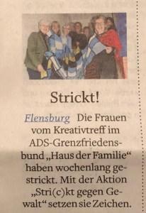 Aktion am 5.12.18 im Haus der Familie in Flensburg