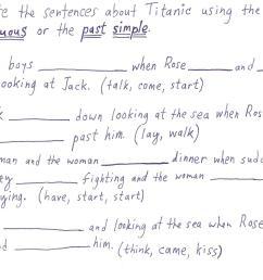 """Titanic"""" past continuous lesson (kids)    4 my T.E.A.C.H.E.R.Z [ 1216 x 1656 Pixel ]"""