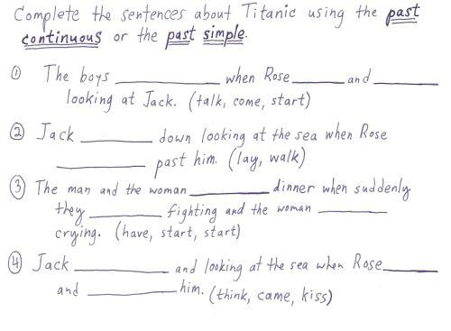 "small resolution of Titanic"" past continuous lesson (kids)    4 my T.E.A.C.H.E.R.Z"