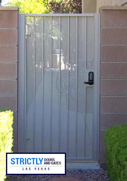 Las Vegas Single Side Yard Gates Company Strictly Doors