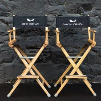 Check out Jamie & Dakotas Directors Chairs On-Set ...