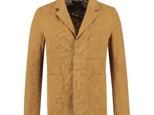 Worker blazer Washed Ribcord Bronze