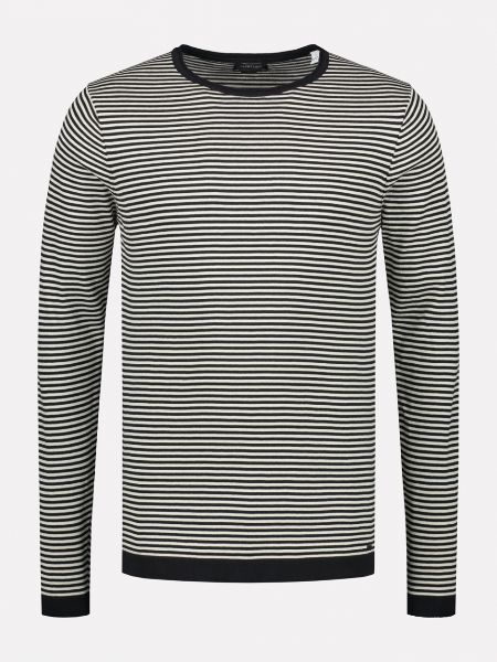 Knit Regual knit stripe Shirt black