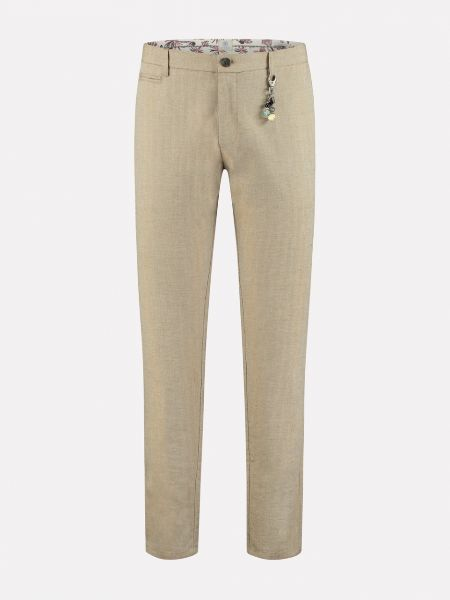Loose chino Small tic tac Leinen Army Green