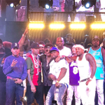 Meek Mill Joins Chance The Rapper & 50 Cent On Stage In Las Vegas