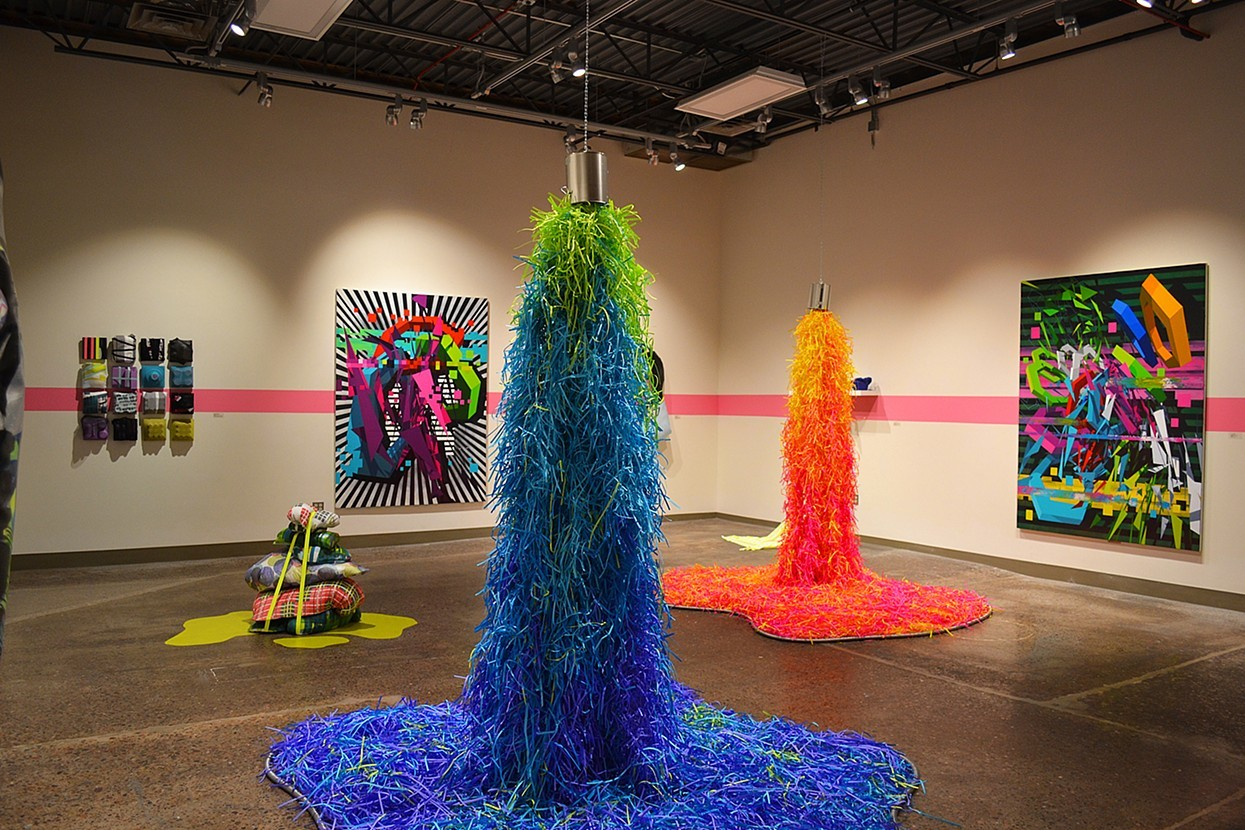 Colorful Shredded Paper Installations by Travis Rice