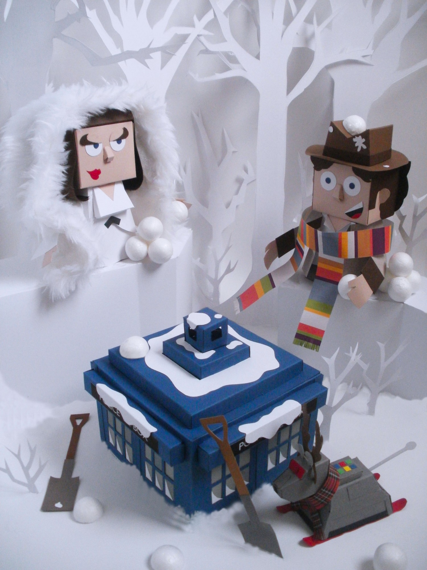 Classic Paper Toys from Pop Culture by Ryan Hall