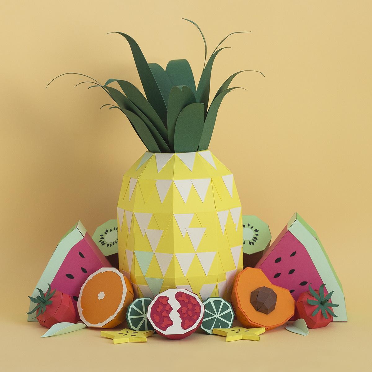 Fresh Drinks: Tropical Paper Craft Ingredients by Rendi Studio