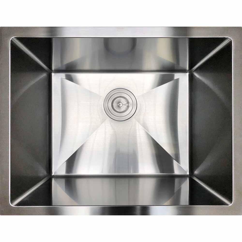 12 depth modern industrial stainless steel sink r21l laundry
