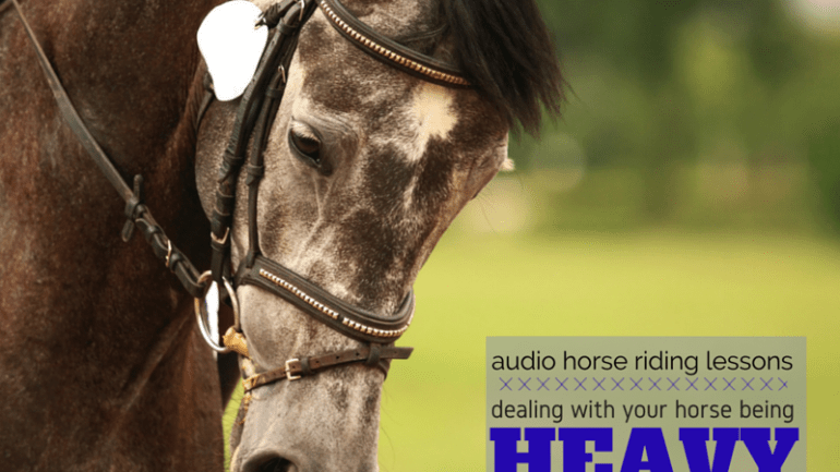 Retraining a Horse Who is Heavy on Your Hand