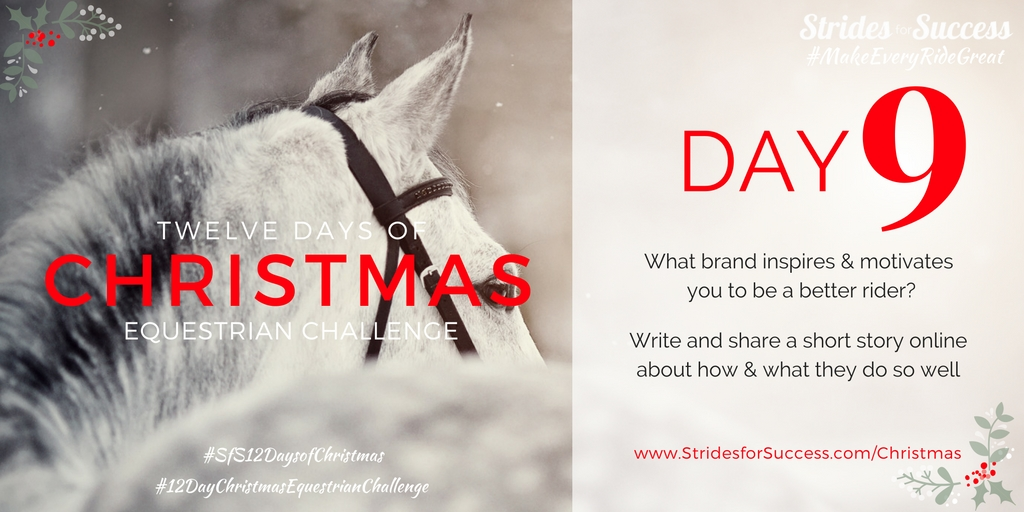 Strides for Success 12 Days of Christmas Equestrian Challenge Day 9