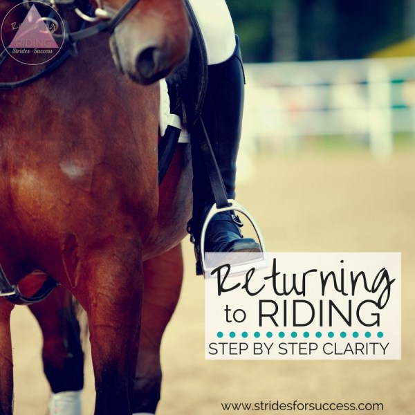Returning to riding - step by step