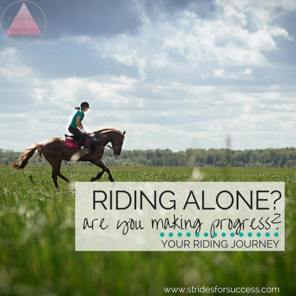 Riding alone? Making sure you are making progress