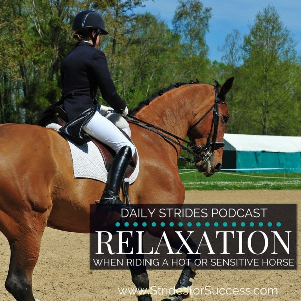Relaxation when Riding a Hot or Sensitive Horse