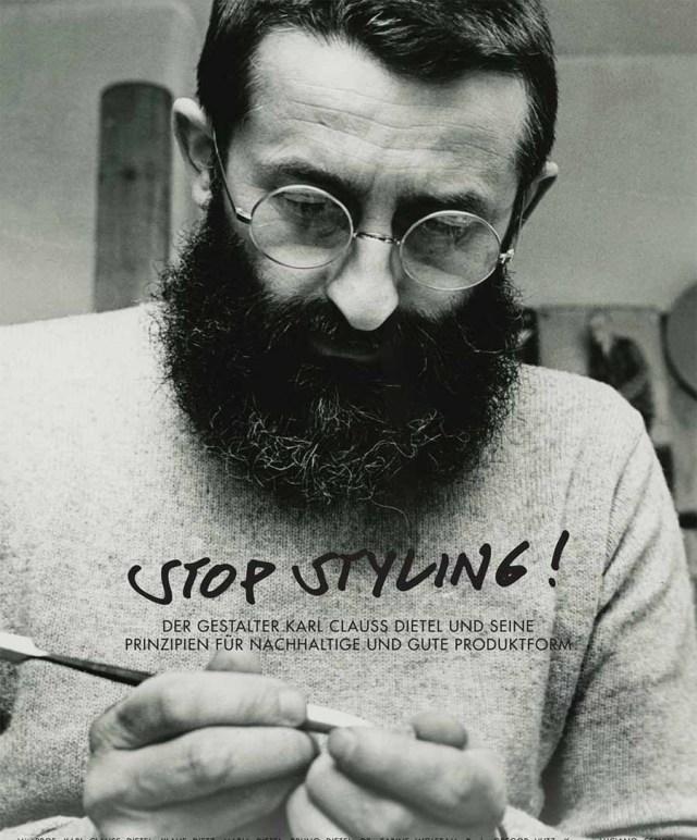 """Werbeplakat für den Dokumentarfilm """"Stop Styling!"""" über den ostdeutschen Designer  Karl Clauss Dietel. Foto: Crowdfunding-Kampagne Stop Styling!"""
