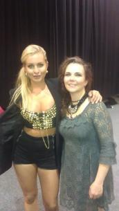 """Artist Carina Dahl and me backstage at """"Frøken Norge"""" 2011"""