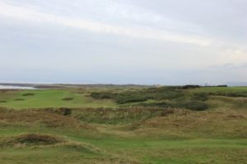 Royal Porthcawl 1st hole before work