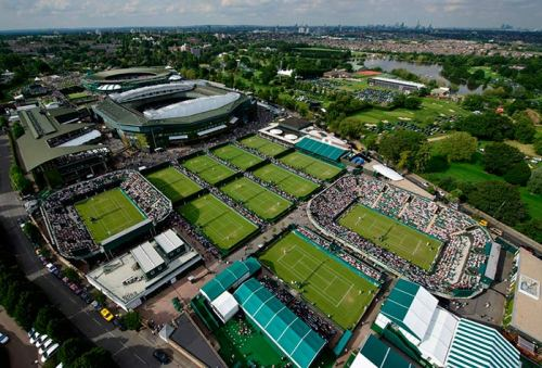 Aerial view of Wimbledon site 2016