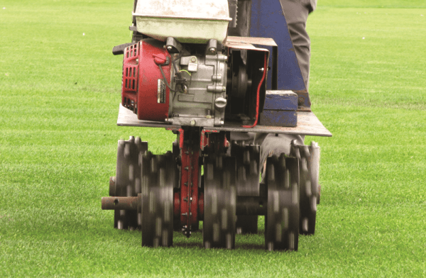 STRI's wear machine in action on the trial plots