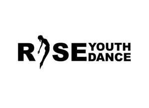 """A logo, it reads """"Rise Youth Dance"""""""