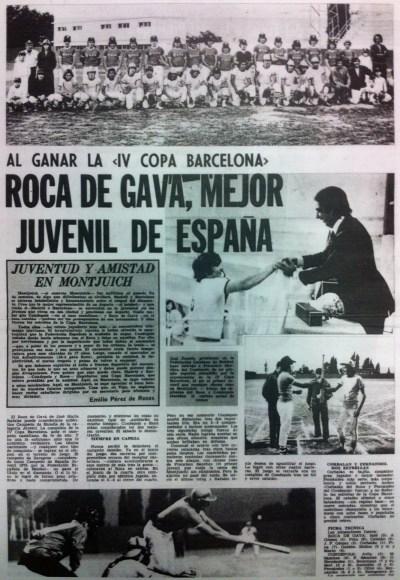 Roca deGava Millor Juvenil d'Espanya