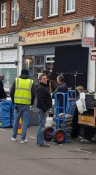 Filming at Potters Bar