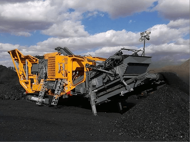 Stricker-HQR1112-Mobile-horizontal-impact-crusher-producing