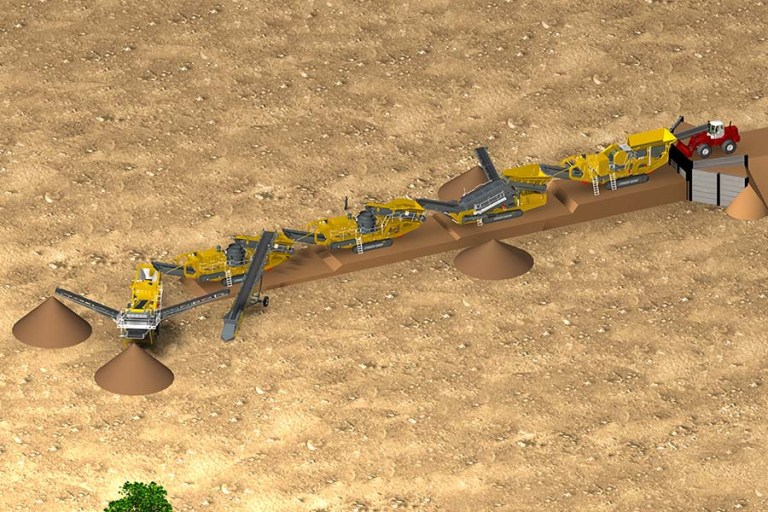 Striker crushing and screening engineering