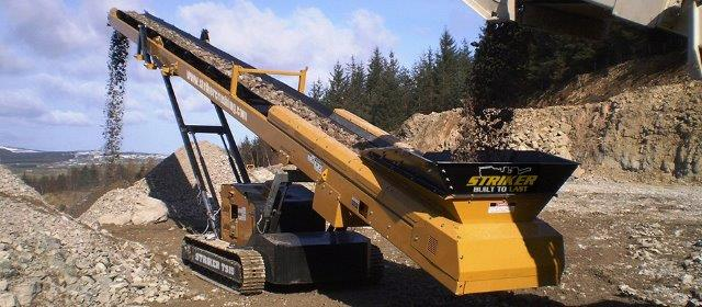 Track stacker conveyor available in Australia