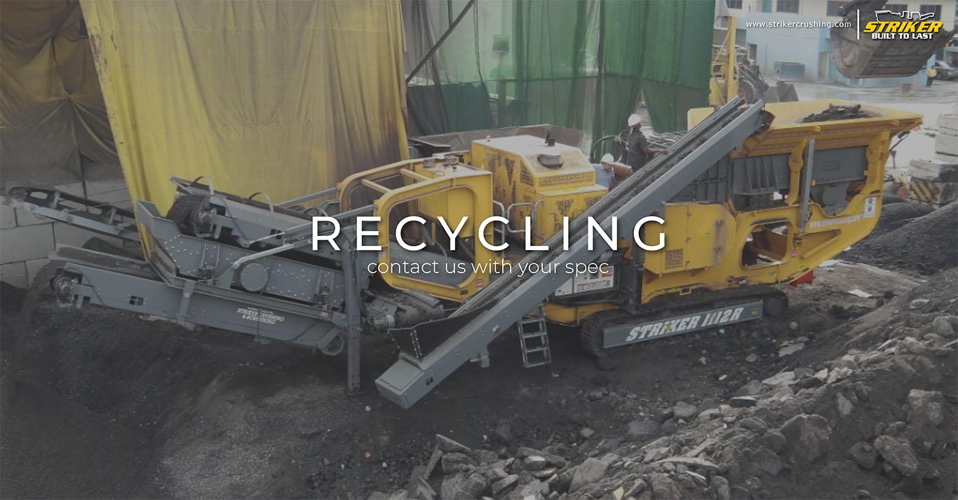 Striker recycling crushing screening conveying